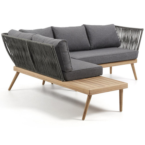 Linea Furniture Grey Agnetha Outdoor Corner Sofa
