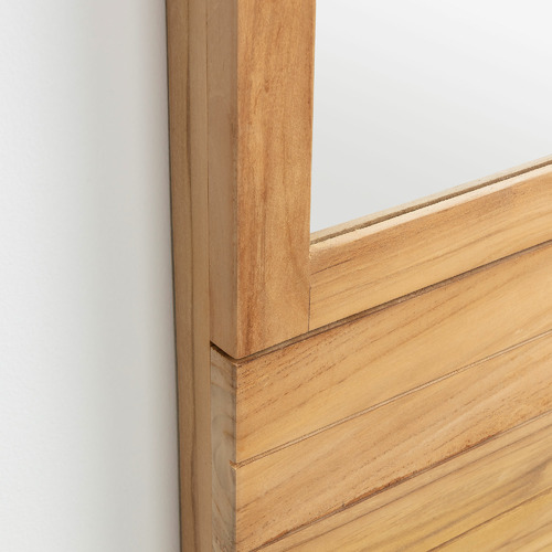 Linea Furniture Teak Wood Bathroom Mirror