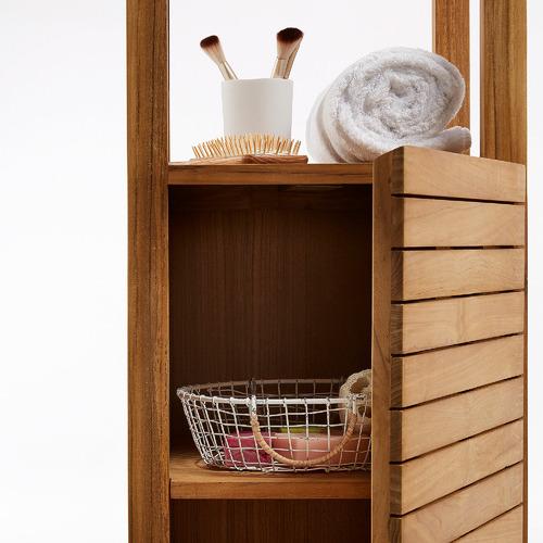 Linea Furniture Teak Wood Bathroom Cupboard & Shelves