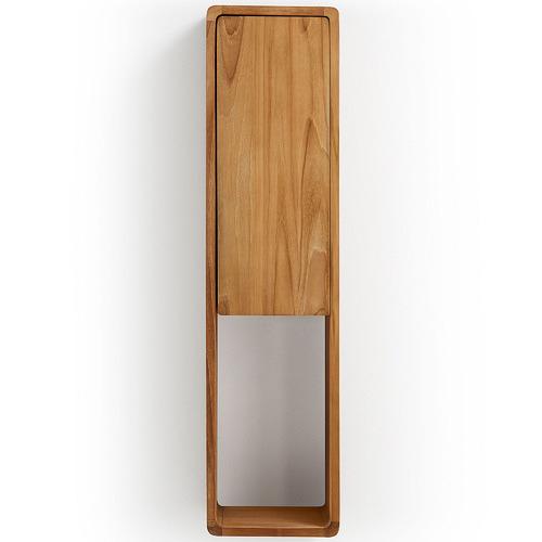 Linea Furniture Modern Teak Wood Bathroom Wall Cabinet