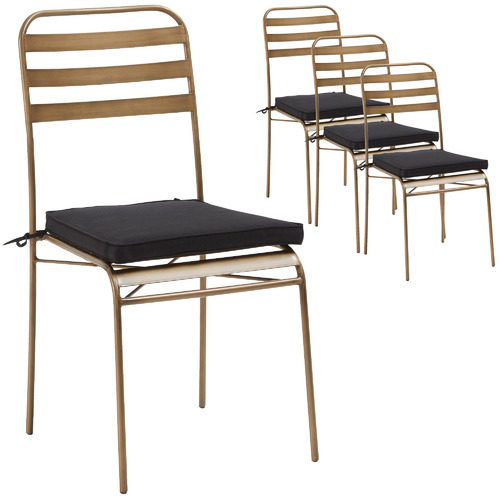 Linea Furniture Gold Bethany Outdoor Dining Chairs