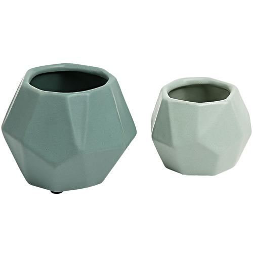 Linea Furniture 2 Piece Elliot Ceramic Planter Set