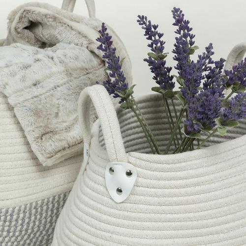 Linea Furniture 2 Piece Spencer Cotton Blend Basket Set