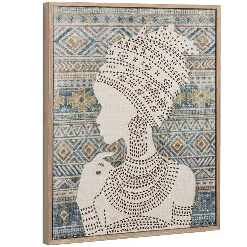 Linea Furniture Headdress Framed Canvas Wall Art
