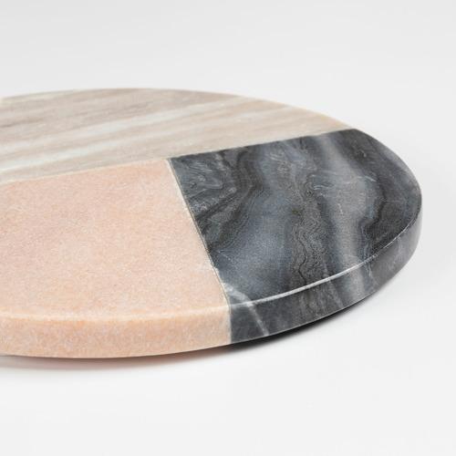 Linea Furniture Round Lera Marble Trivet