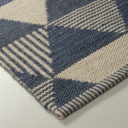 Linea Furniture Blue & Brown Hope Outdoor Rug