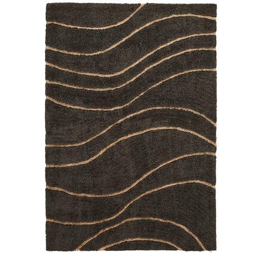 Linea Furniture Charcoal Carmen Wool & Jute Rug