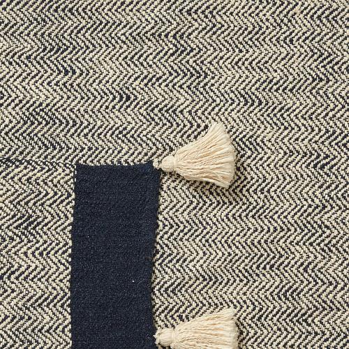 Linea Furniture Blue & Beige Santiago Cotton Throw
