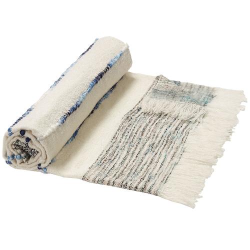 Linea Furniture White Santiago Cotton Throw