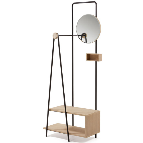 Linea Furniture Alexander Clothes Hall Stand with Shelves
