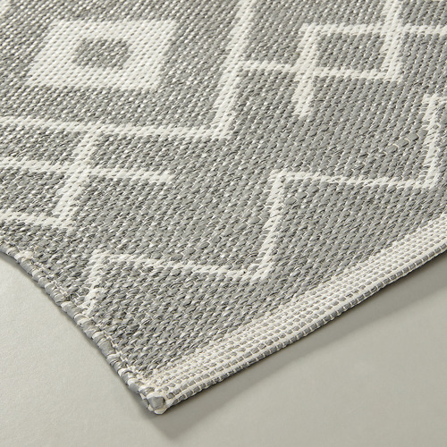 Linea Furniture Grey Sadie Hand-Woven Outdoor Rug
