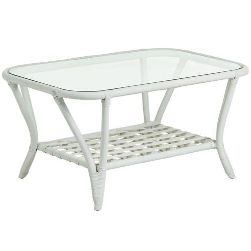 Linea Furniture Sheldon Glass & Rattan Coffee Table
