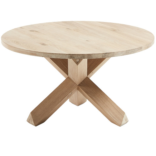 Natural Gail Oak Wood Coffee Table Temple Webster