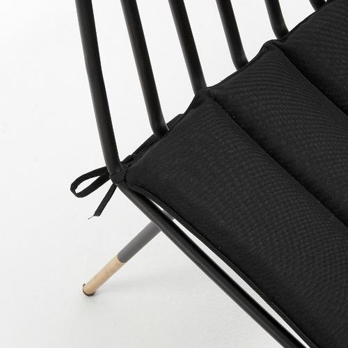 Linea Furniture Black Rashi Metal Outdoor Chair