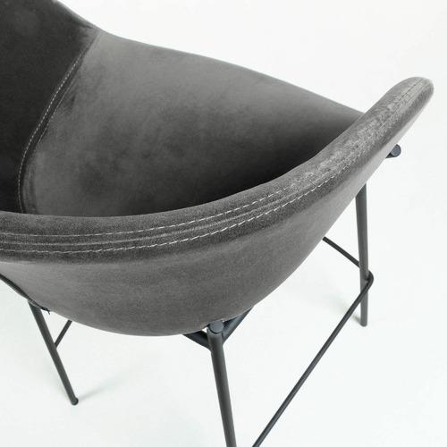 Linea Furniture 65cm Vanya Velvet Barstool