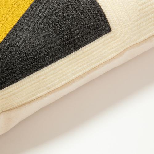 Linea Furniture Triangle Rashi Cotton-Blend Cushion