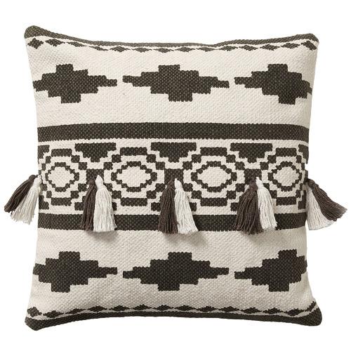 Linea Furniture Black Aztec Print Tara Cotton Cushion