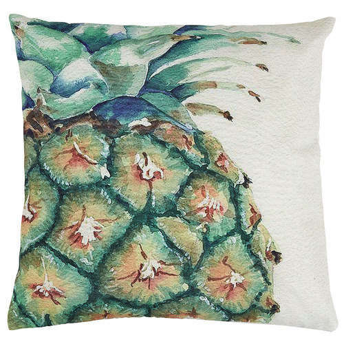 Linea Furniture Pineapple Print Abby Outdoor Cushion