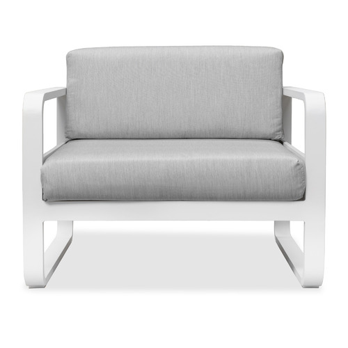 Linea Furniture White Elara Fabric Outdoor Armchair