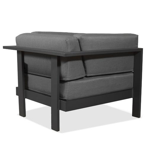 Linea Furniture Anthracite Trosa Fabric Outdoor Armchair
