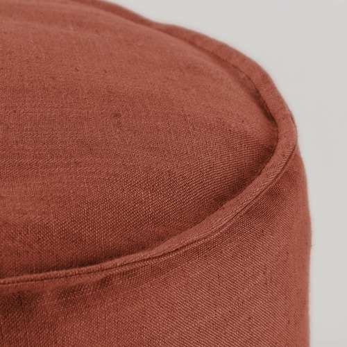 Linea Furniture 42cm Zerina Upholstered Pouffe