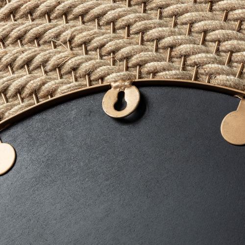 Linea Furniture Natural Ismael Metal & Rope Mirror