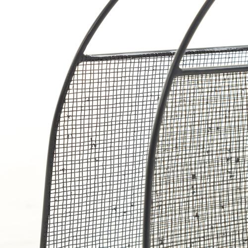 Linea Furniture Grey Giotto Metal Magazine Holder