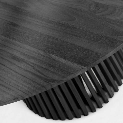 Black Shazia Mindi Wood Dining Table