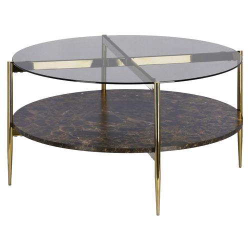 Camilla Glass-Top Coffee Table
