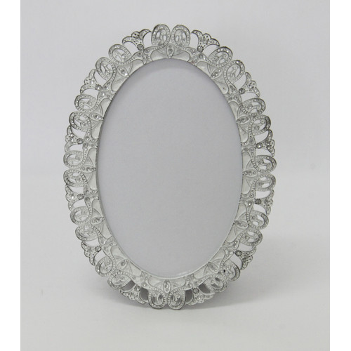 MS Homewares 6x4 Oval Lace Photo Frame