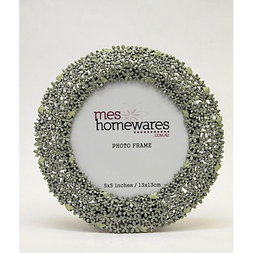 MS Homewares 5x5 Tiny Flowers Photo Frame