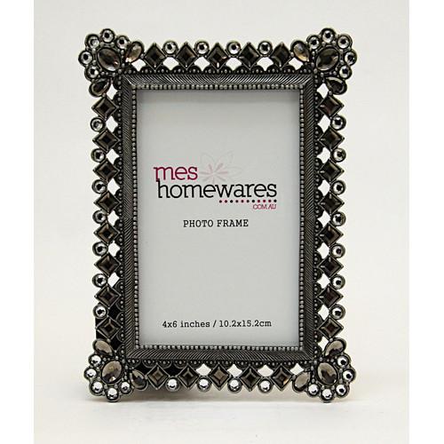 MS Homewares 6x4 Diamonds Rectangle Photo Frame