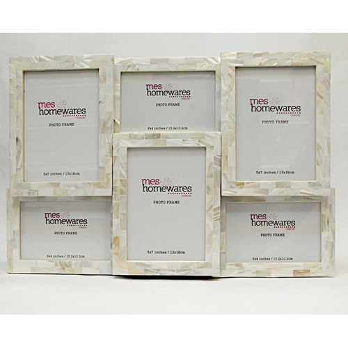Mother Of Pearl Multi Photo Frame Temple Webster