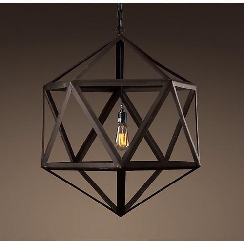 Observatory Lighting Steel Polyhedron Pendant