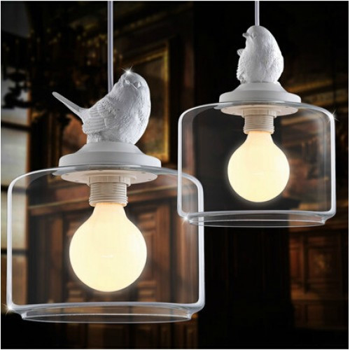 Observatory Lighting Bird Glass Pendant