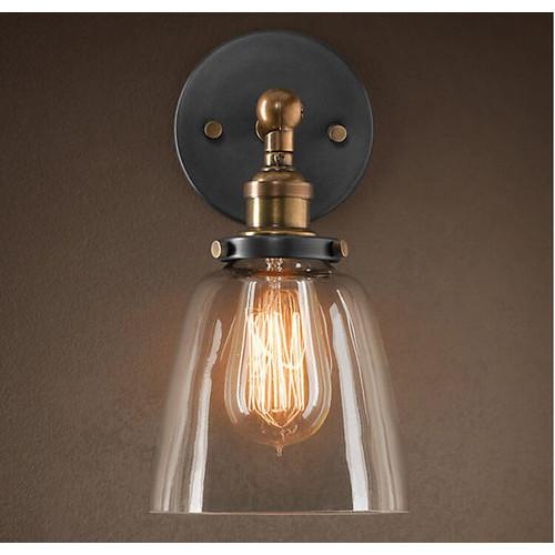 Observatory Lighting Clear Glass Cloche Filament Wall Light