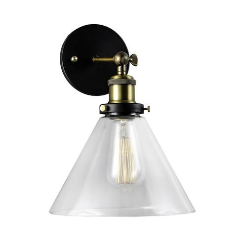 Observatory Lighting Clear Glass Funnel Filament Wall Light