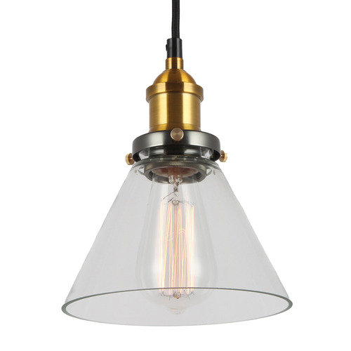 Observatory Lighting Clear Glass Funnel Filament Pendant
