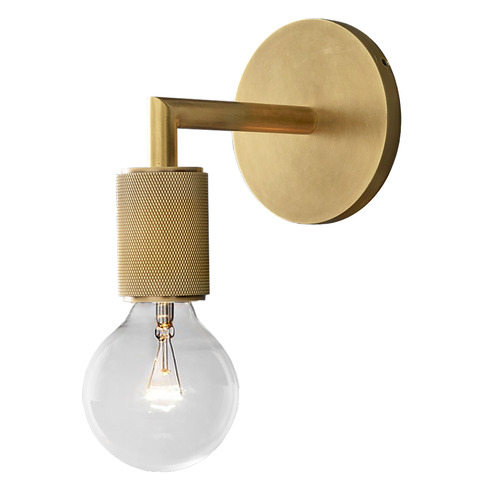 Observatory Lighting Clear & Gold Travis Wall Light