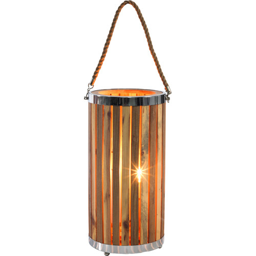 New Life Lighting Ryder Natural Wooden Standing Lamp
