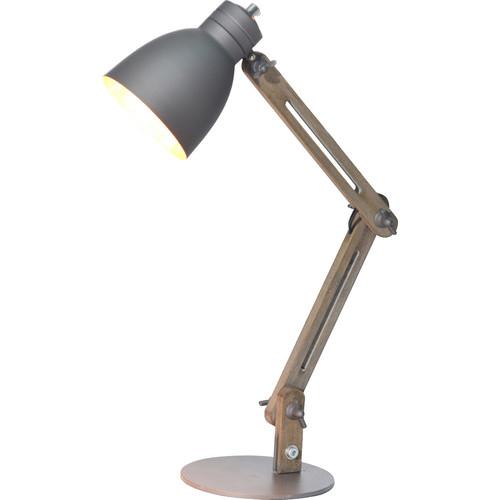 armenta wood frame and steel base table lamp temple webster. Black Bedroom Furniture Sets. Home Design Ideas