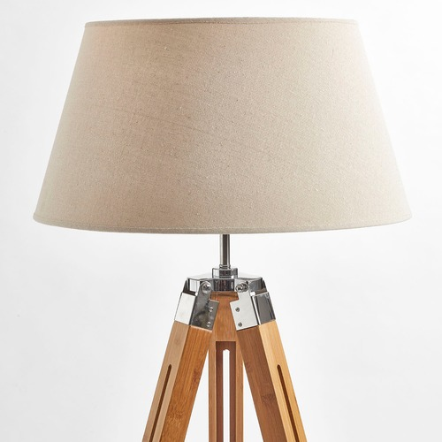 New Oriental Rubi Natural Large Tripod Floor Lamp