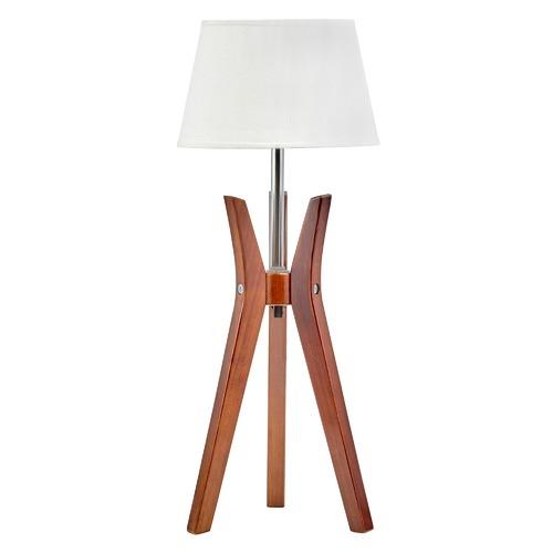 New Life Lighting Cherry Bamboo Tripod Table Lamp