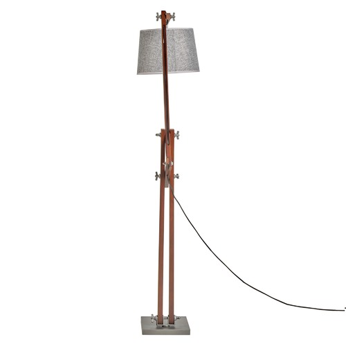 New Life Lighting Cherry Bamboo Floor Lamp