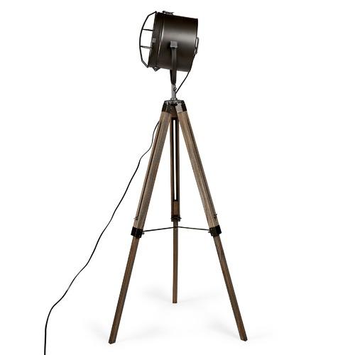 Steel Grey Franky Tripod Floor Lamp