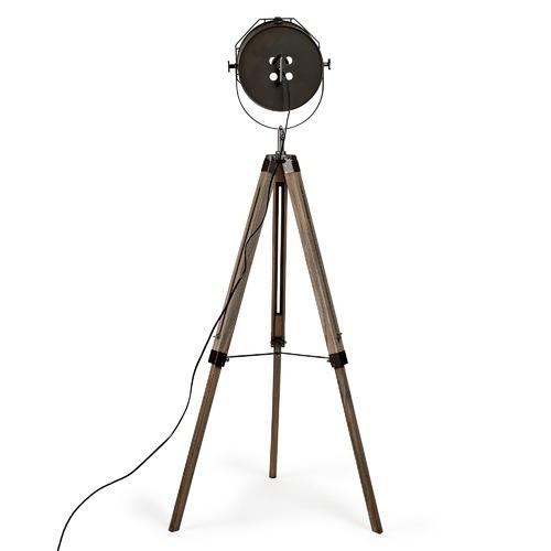 New Life Lighting Steel Grey Franky Tripod Floor Lamp