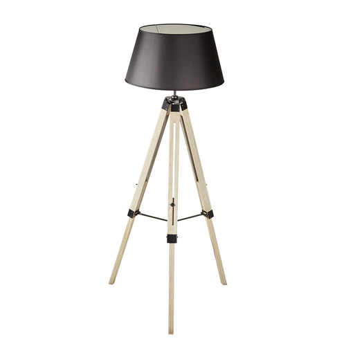 New Life Lighting Pine Wood Tripod Floor Lamp