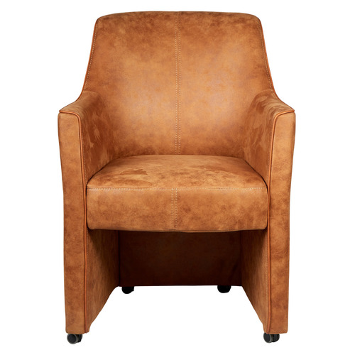 New Oriental Antique Brown Genoa Armchair with Wheels