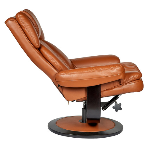 New Oriental Andrew Faux Leather Premium Lounge with Ottoman