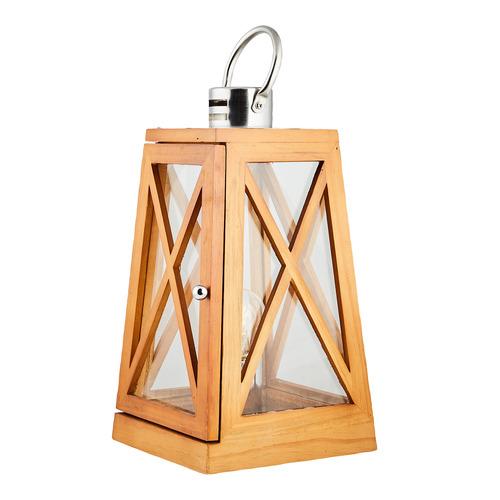 New Life Lighting Natural Lantern Styled Bamboo Table Lamp